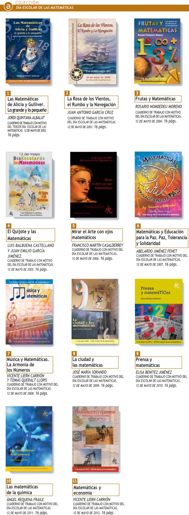 Cuadernillos del Día Escolar de la Matemáticas